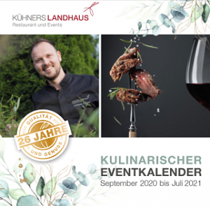 Kuliniarischer Eventkalender September 2020 bis Juli 2021